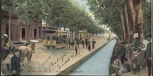 Calle San Martin, sector Alameda. Canal Tajamar.