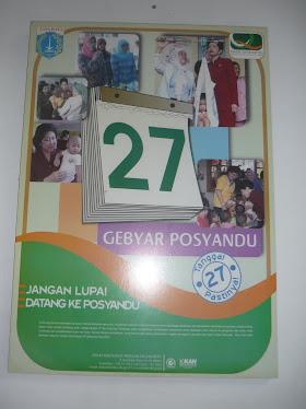 Poster Gebyar Posyandu setiap tgl 27