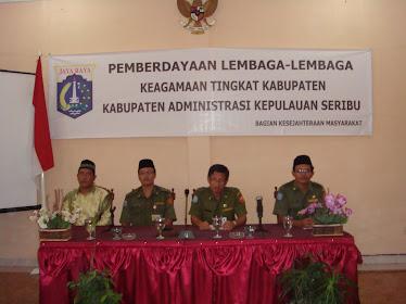 Pemberdayaan Kelembagaan Agama -Agama Tk. Kabupaten