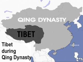 Tibet during Qing / Q'ing / Ch'ing Dynasty / Manchu Empire