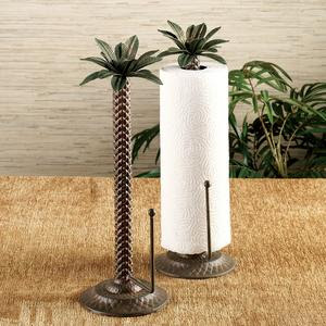 palm tree paper towel holder