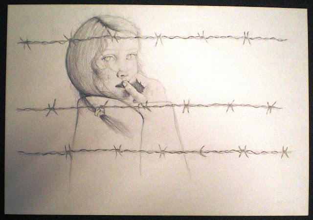 Veronica Fausti, Bambina piangente dietro filo spinato dans EBRAISMO: SHOAH
