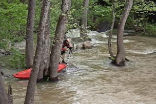 Kayaker Filming at Fallingwater Falls