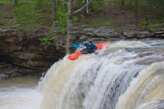 Kayaker at Fallingwater Falls