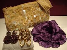Combinação tons dourado e beringela