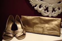 Conjunto em dourado velho