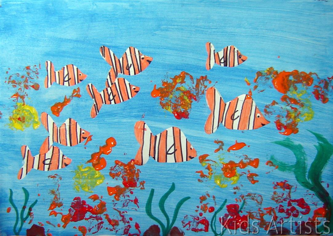 Kids artists tropical fish for Fish for kids