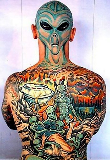 Might go with a back tattoo myself. Was thinking of this: