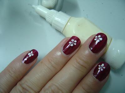 evening lavender floral nail art design