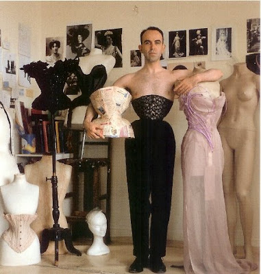 Marilyn Manson Wearing a Corset
