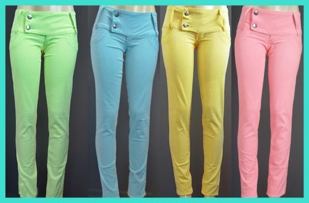 calças coloridas femininas