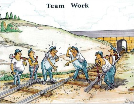 Team Work Cartoon