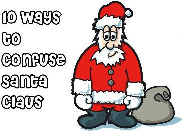 Confuse Santa Cartoon