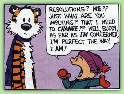 Funny Cartoon New Year Resolutions Calvin and Hobbes