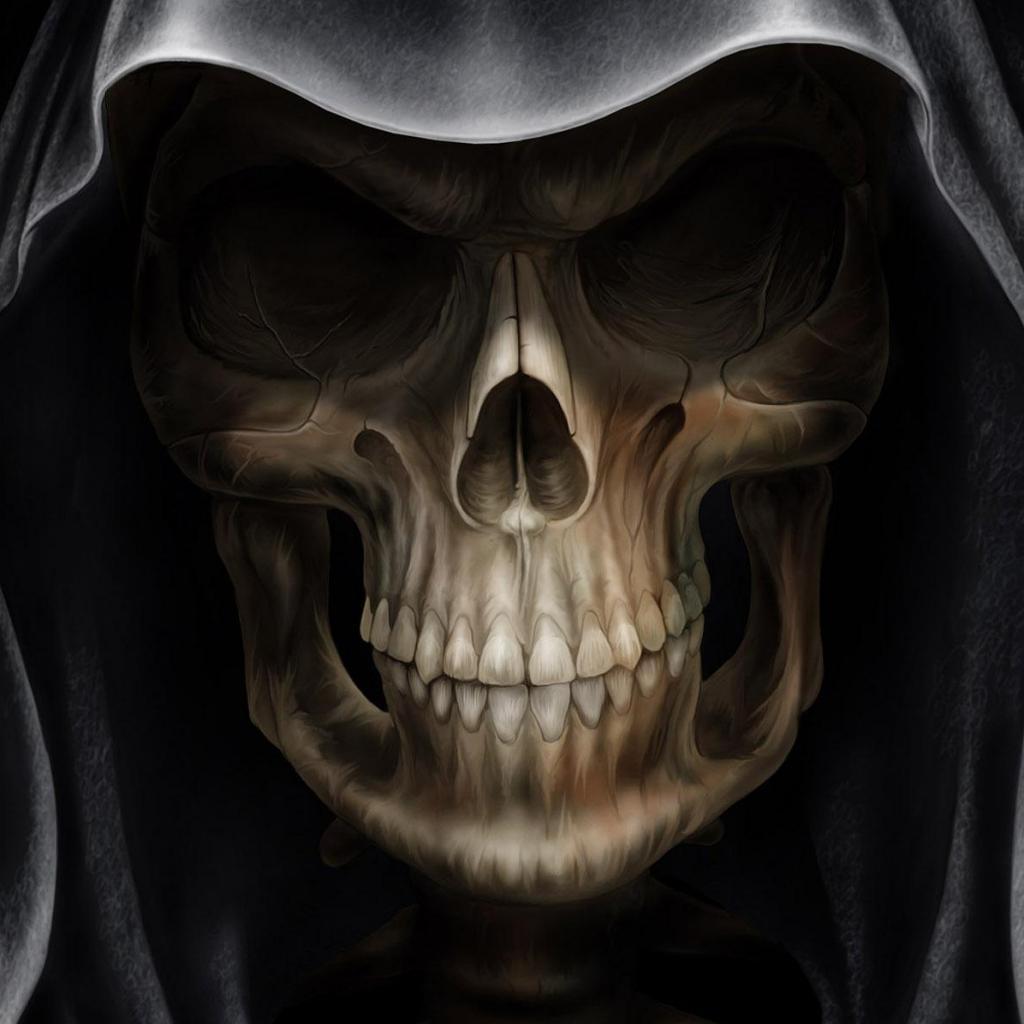 Scary Skull Grim Reaper