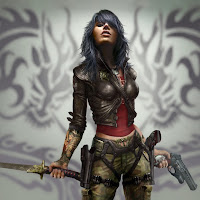 wet xbox game ipad wallpaper female warrior
