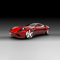Red Ferrari Car iPad Wallpaper