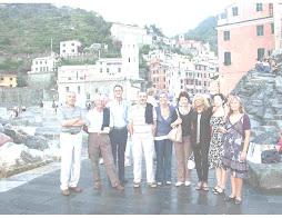Gruppo di amici a Vernazza