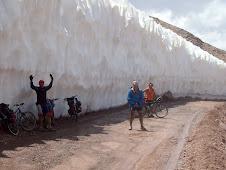 atravesando un glaciar