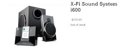 Creative X-Fi i600 Sound System