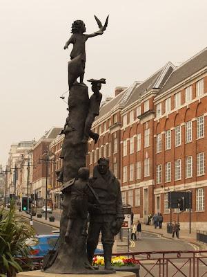Statue Arthur Aaron VC Leeds Eastgate