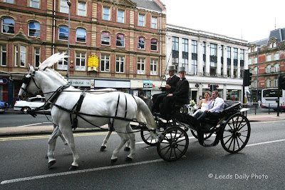 Wedding Carriage Boar Lane Leeds