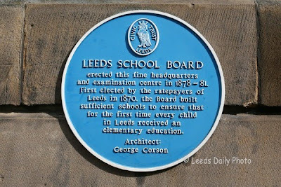 Blue Plaque School Board Building Leeds