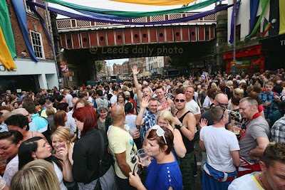 Leeds Pride crowd