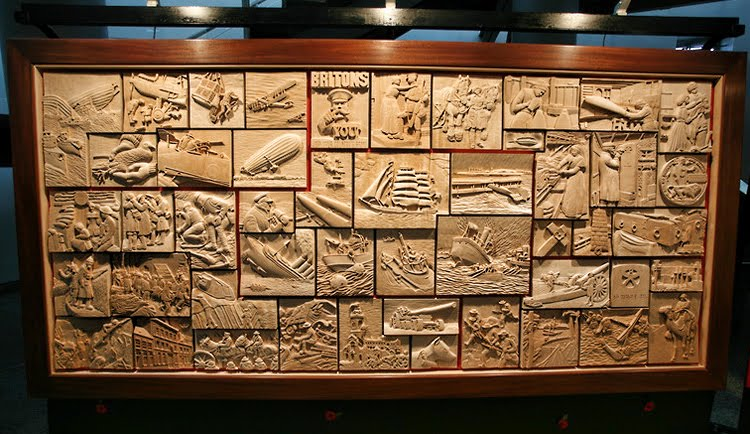 War in Wood Carvings