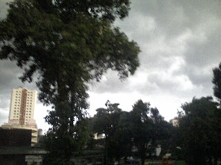 Dark sky, sign of rain