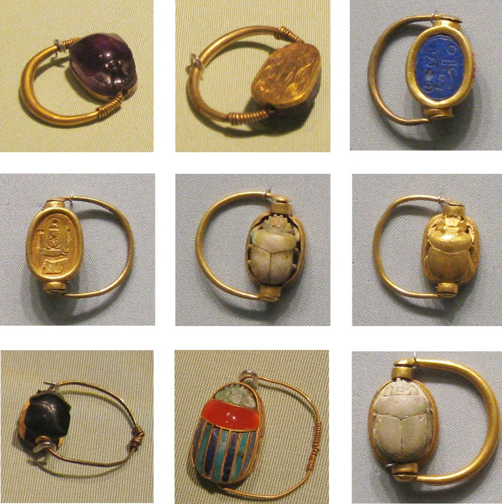 Ancient Egyptian Scarab Beetle Rings