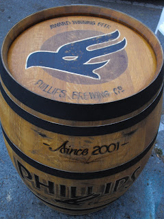 phillips hand painted wine barrel canada north america chris dobell