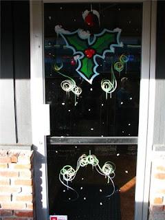 Dobell signs christmas xmas windows