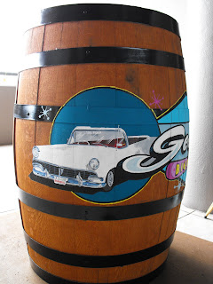 Bar beer barrel custom hand painted retro design by dobell signs  victoria vancouver  island canada