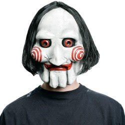 Jigsaw Scary Horror Movie Characters Halloween Masks Pictures Seen on www.VyperLook.com