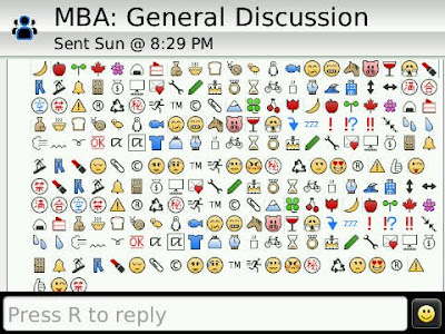 Blackberry : Emotion for Blackberry Messenger 5