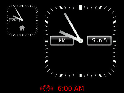Blackberry : Display a second time zone