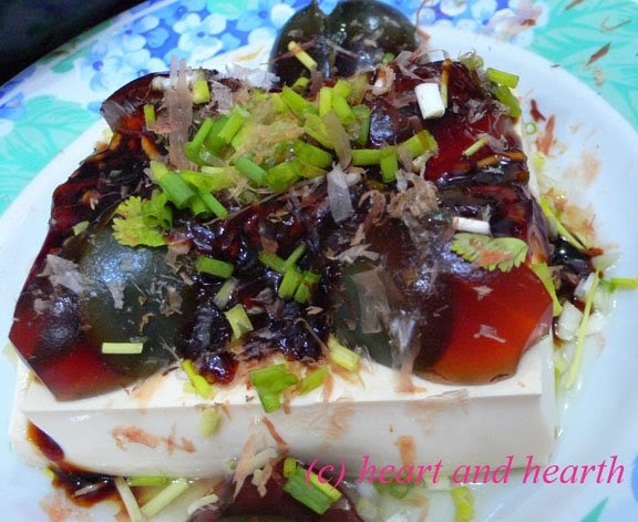 and Hearth: Taiwanese (Japanese?) Style Cold Tofu with Century Egg