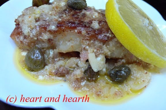 Heart and hearth pan seared fish with capers and lemon for Lemon cream sauce for fish