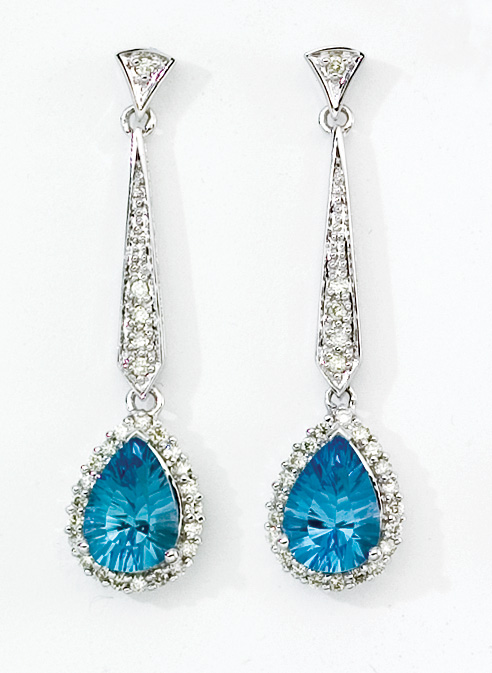 diamond hoop earrings choosing and wearing mystic topaz