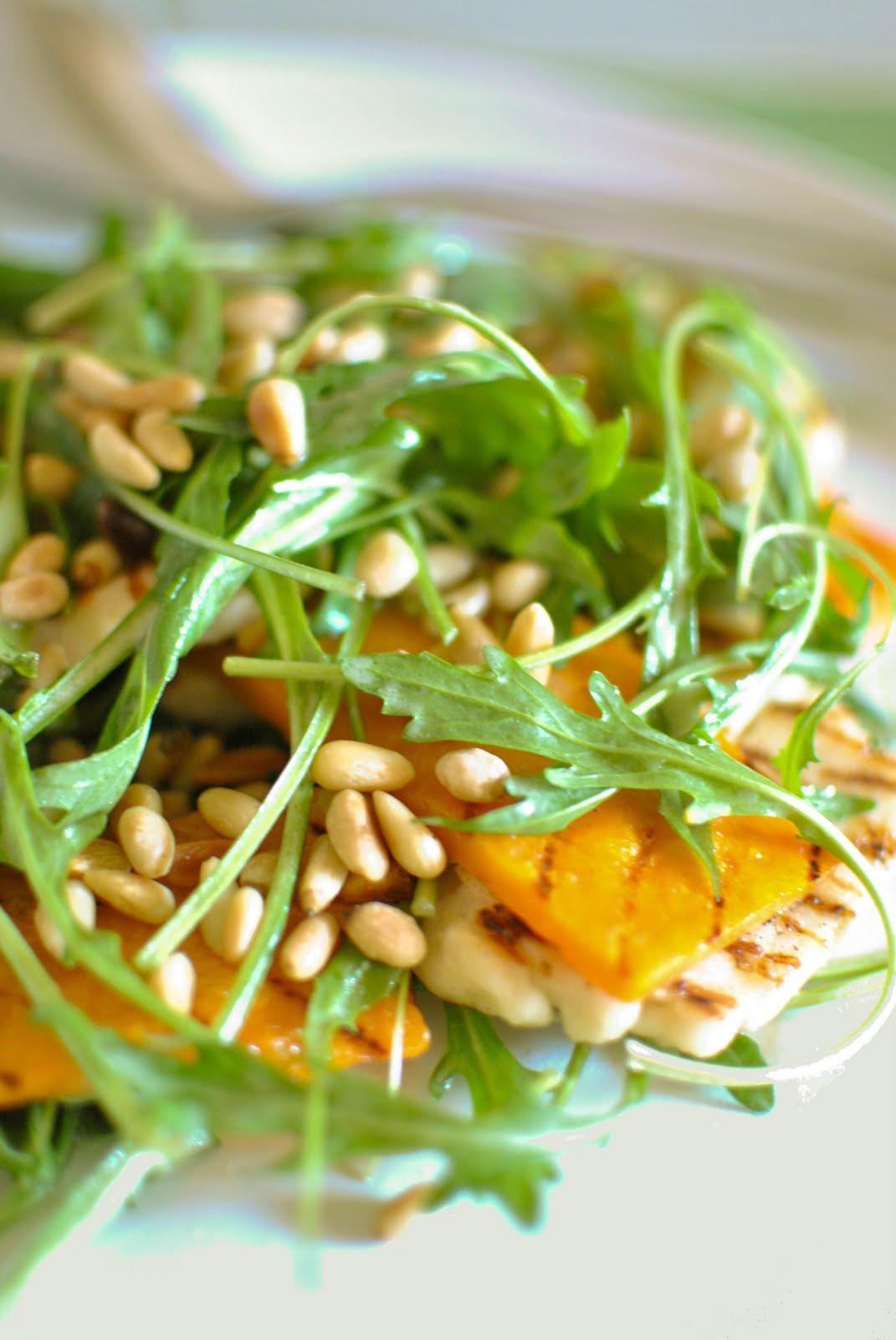 Haloumi Pumpkin Rocket Salad