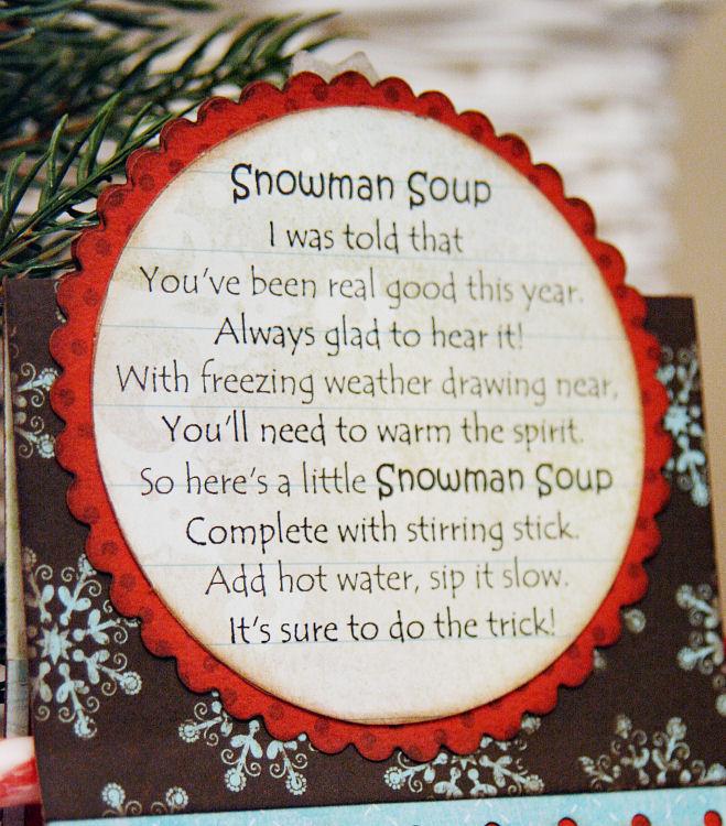 Snowman Soup Poem Template Notes: i think snowman soup