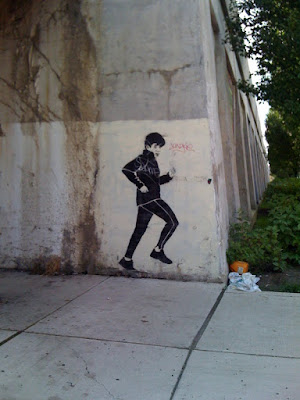 rod blagojevich jogging. Rod Blagojevich graffiti