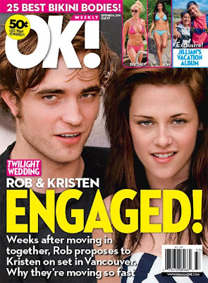 Robert pattinson and kristen stewart engaged