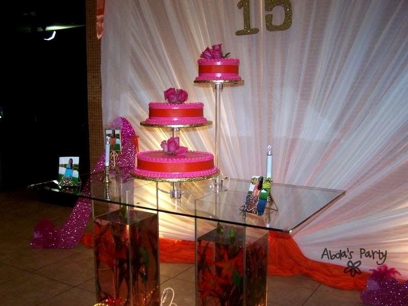 abda u0026 39 s party decorations  pink  orange sweet 16 party