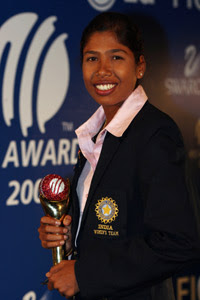 Jhulan Goswami, ICC Women Cricketer of the Year 2007