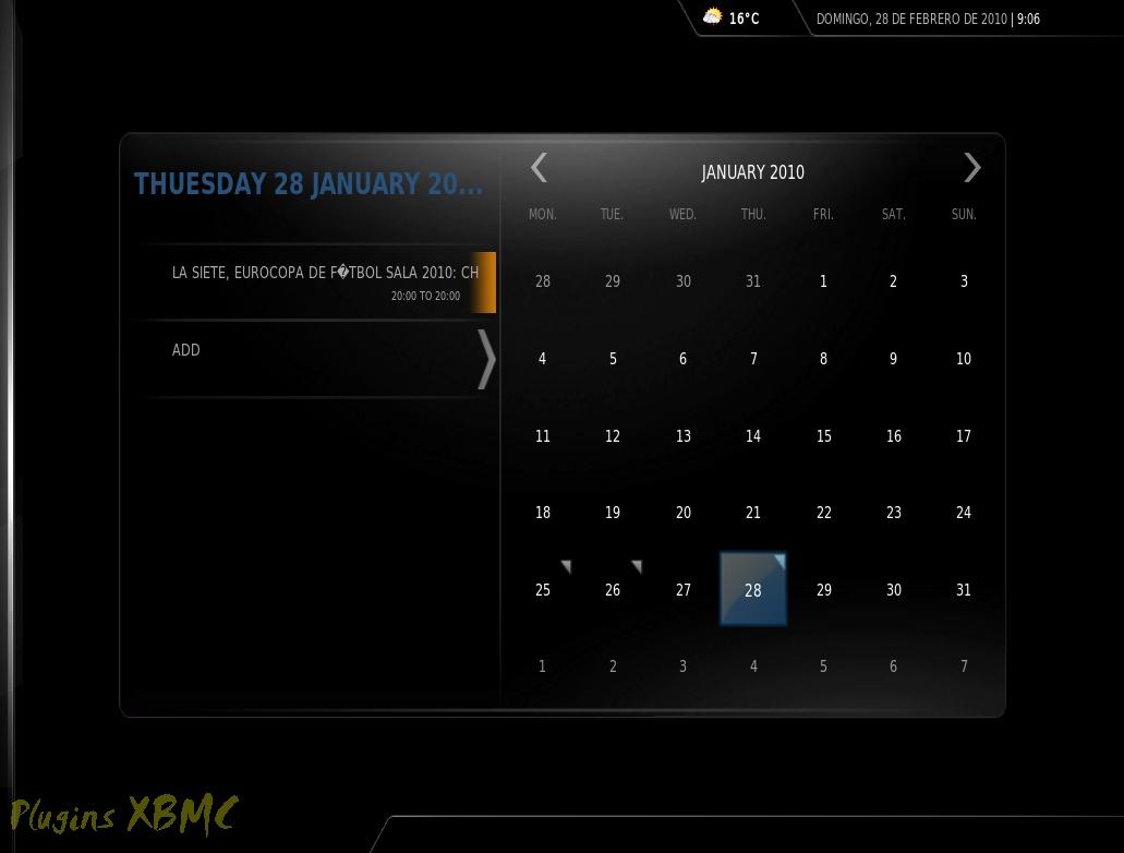 Google Calendar para XBMC