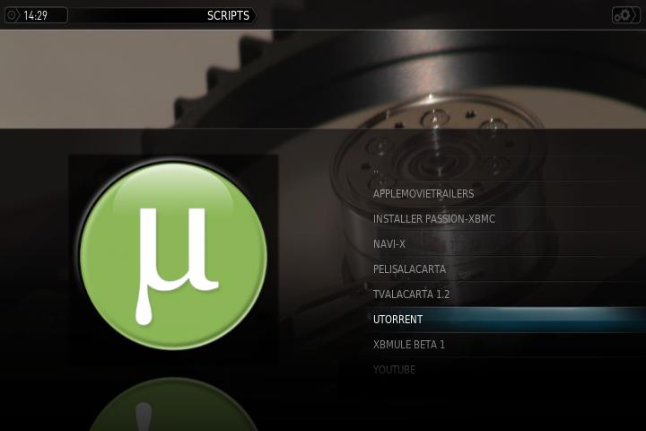 UTorrent Plugin XBMC