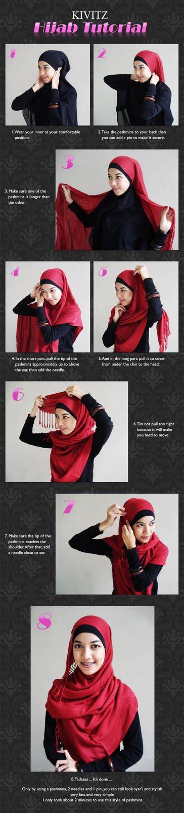 Hijabers Tutorial Sakinah : Cara Pakai Jilbab Ala Zaskia Adya Mecca