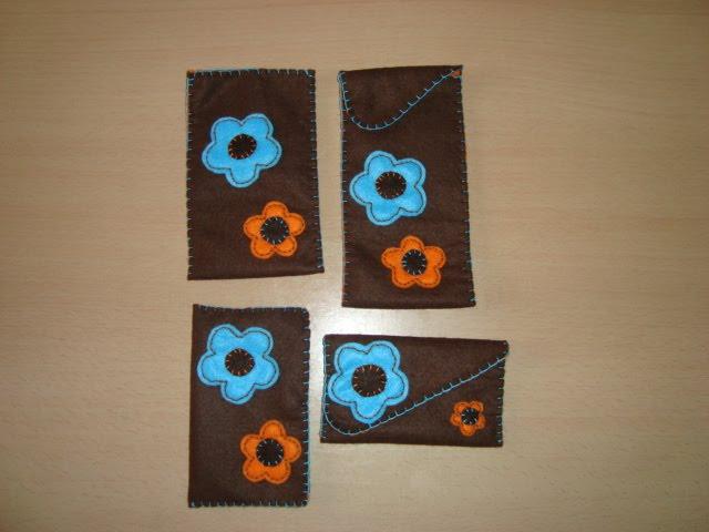 conjunto bolsas feltro